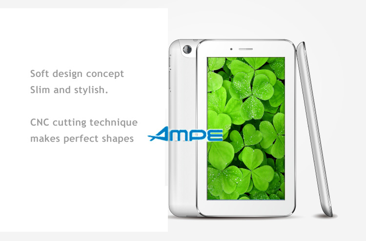 AMPE - A65- 6.5 Inch Qualcomm Dual Core Tablet and Phone in One - Android 4.1,  IPS 5 point touch screen, Dual Sim Card Unlocked GSM / 3G WiFi, Bluetooth,GPS, 3D acceleration.
